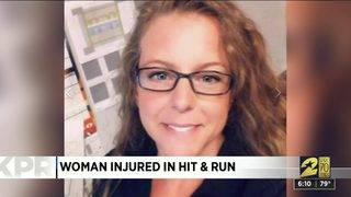 Woman injured in hit-and-run