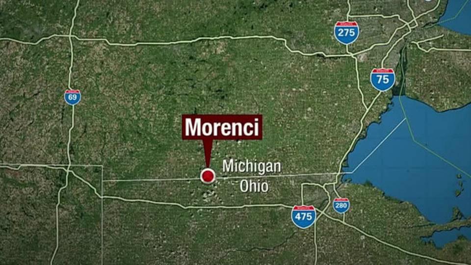 Morenci Michigan map