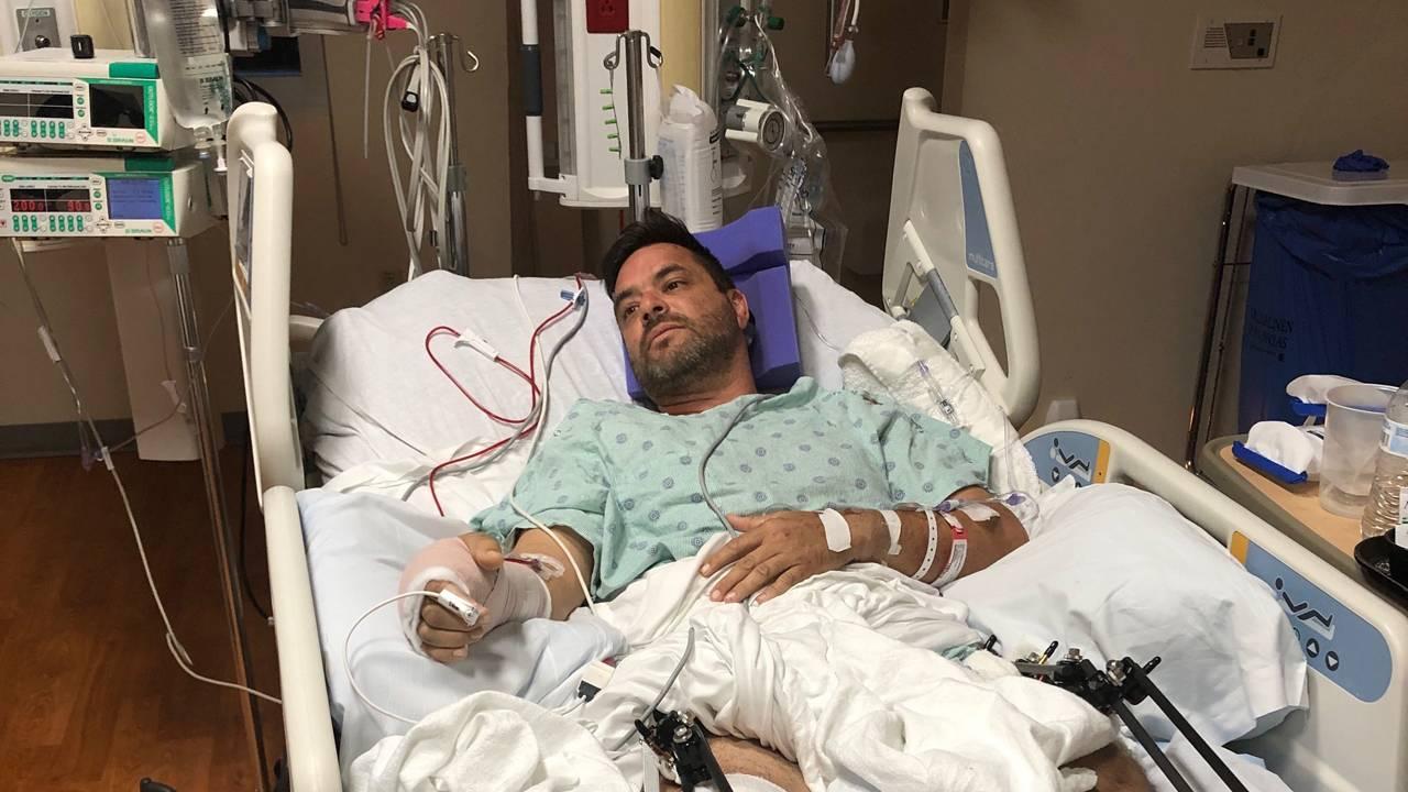 Carmelo Gonzalez in hospital