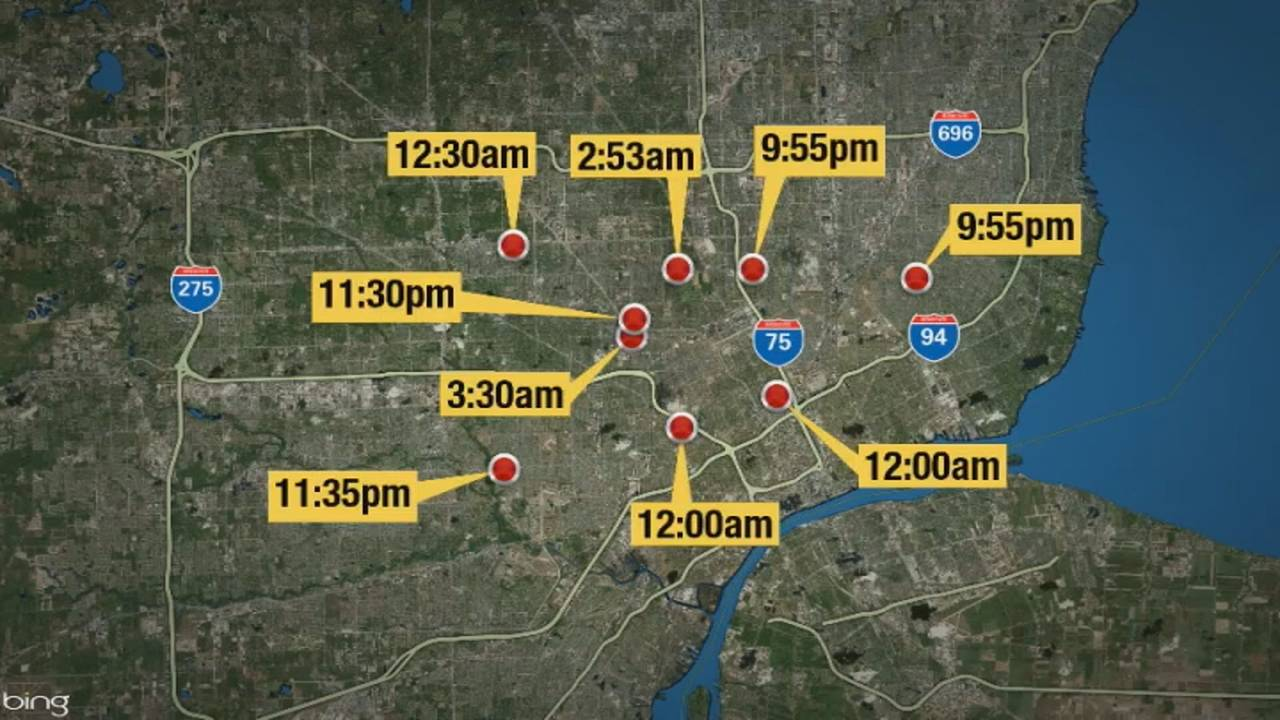 Fourth of July overnight nine shootings map