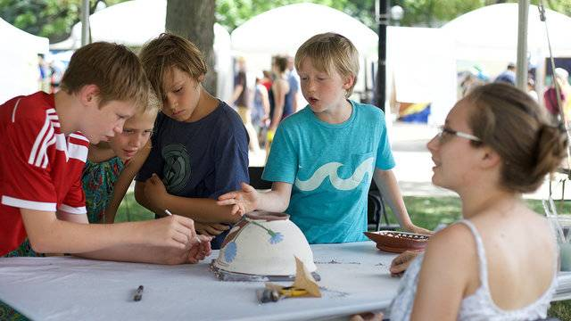 A Kids Guide To The Ann Arbor Art Fair Family Friendly All Ages Activities