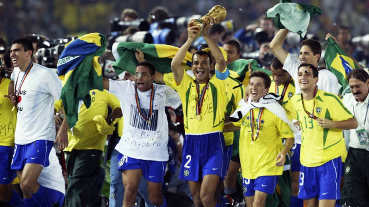 Brazil celebrates winning 2002 World Cup76207528-75042528
