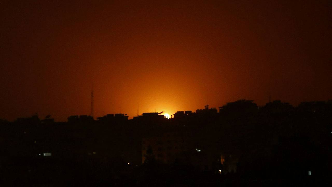 Bombing in Gaza early Friday