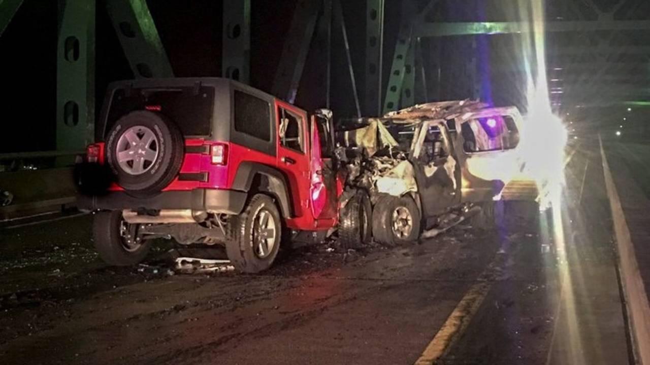 Hart Bridge wrong way crash 2