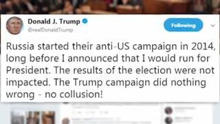 Trump responds to Mueller indictment news