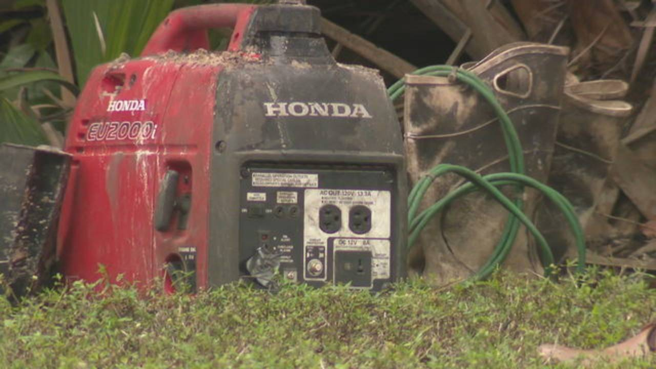 Honda generator and muddy boots found at entrance to tunnel