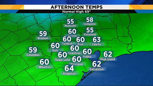 Chilly temperatures thwart expected warm up