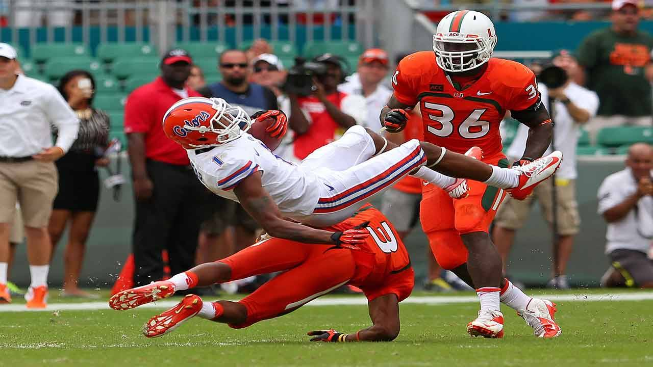 Florida Gators vs Miami Hurricanes in 2013