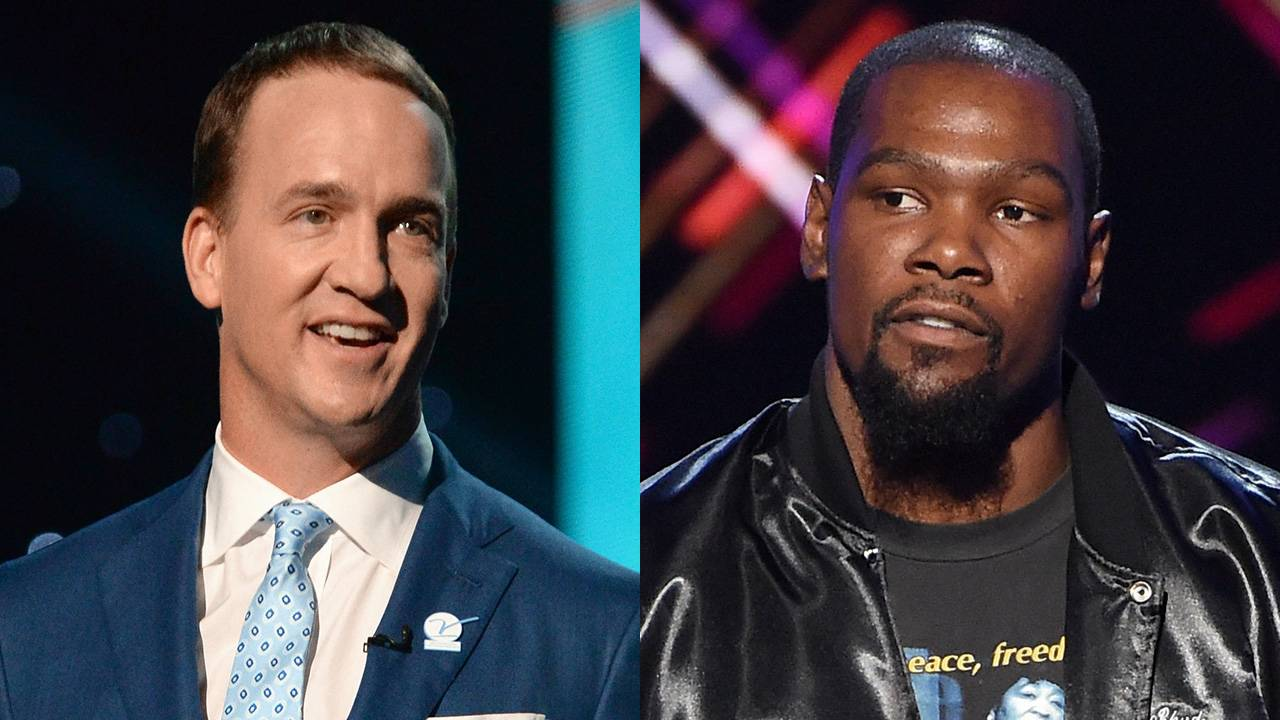 fda9c4ee450 Kevin Durant Didn t Love Peyton Manning s ESPY Awards Monologue Jokes --  See His Reaction!