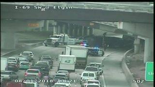 Traffic headache: Overturned 18-wheeler, hazmat spill snarls traffic on&hellip&#x3b;