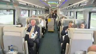 VIPs take ride on new Brightline train from Fort Lauderdale to West Palm Beach