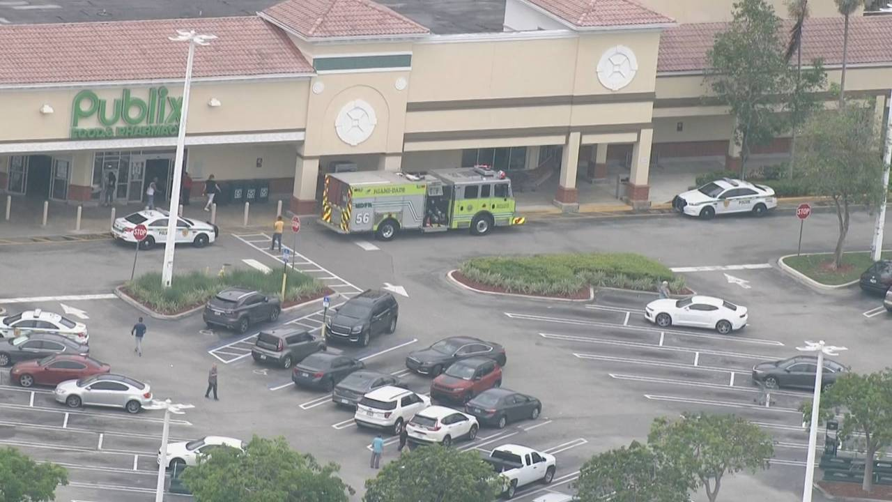 Sky 10 Publix shooting view from front of store