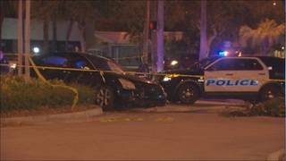 1 injured in shooting, crash in North Miami Beach