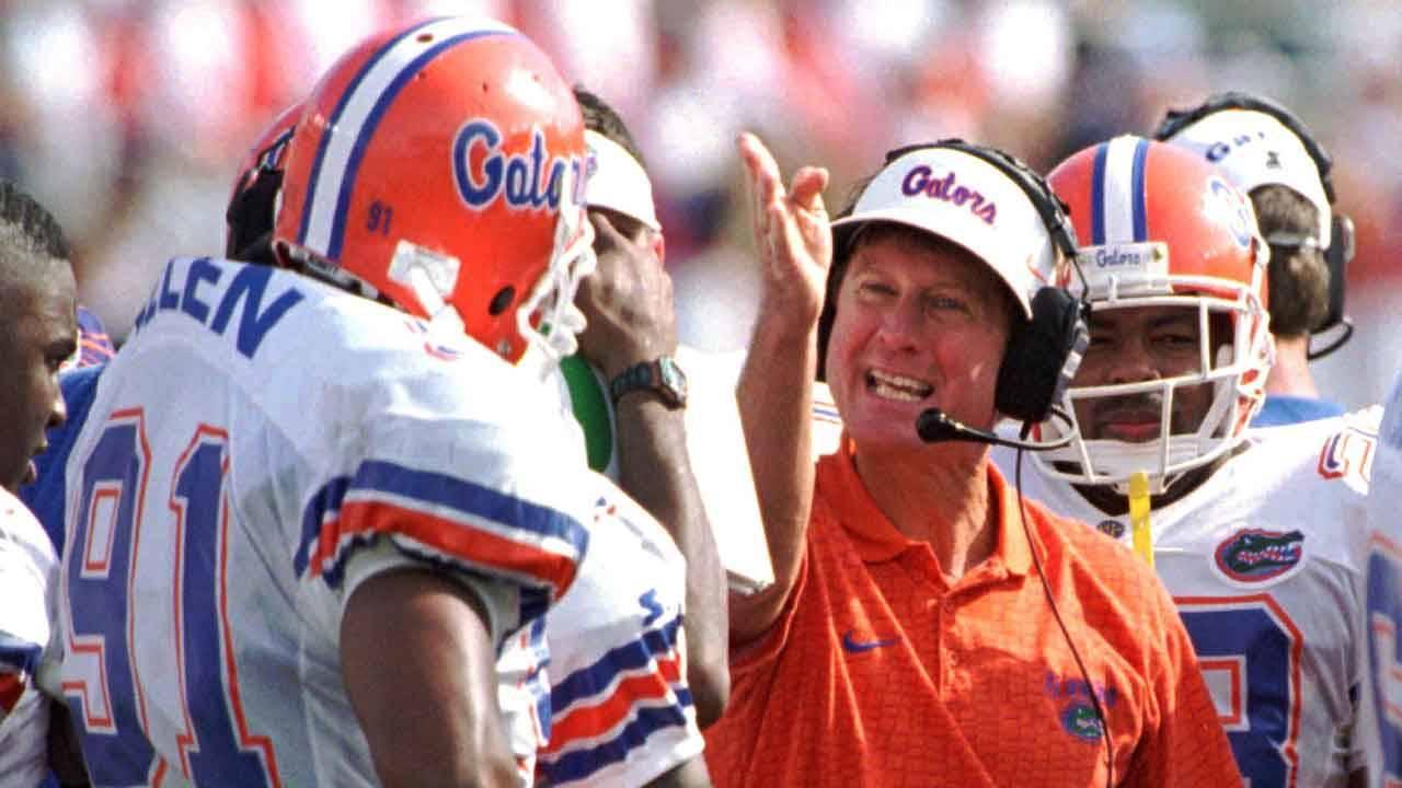 Florida Gators head coach Steve Spurrier in 1996