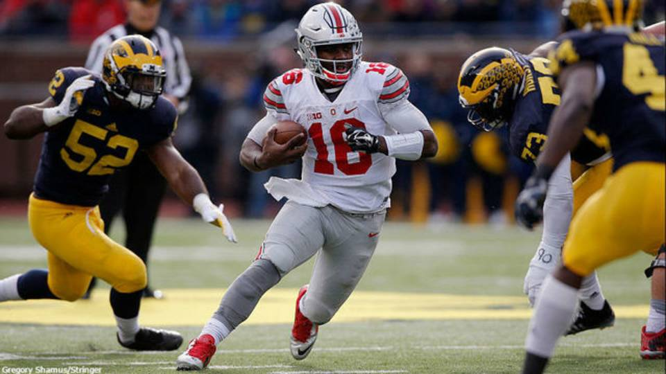 JT Barrett vs Michigan 2015