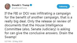 Trump calls for access to documents on informant