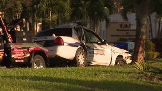 Sunrise officer crashes patrol car trying to avoid animal