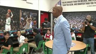 Ray Allen helps open computer lab for students in Miami Beach