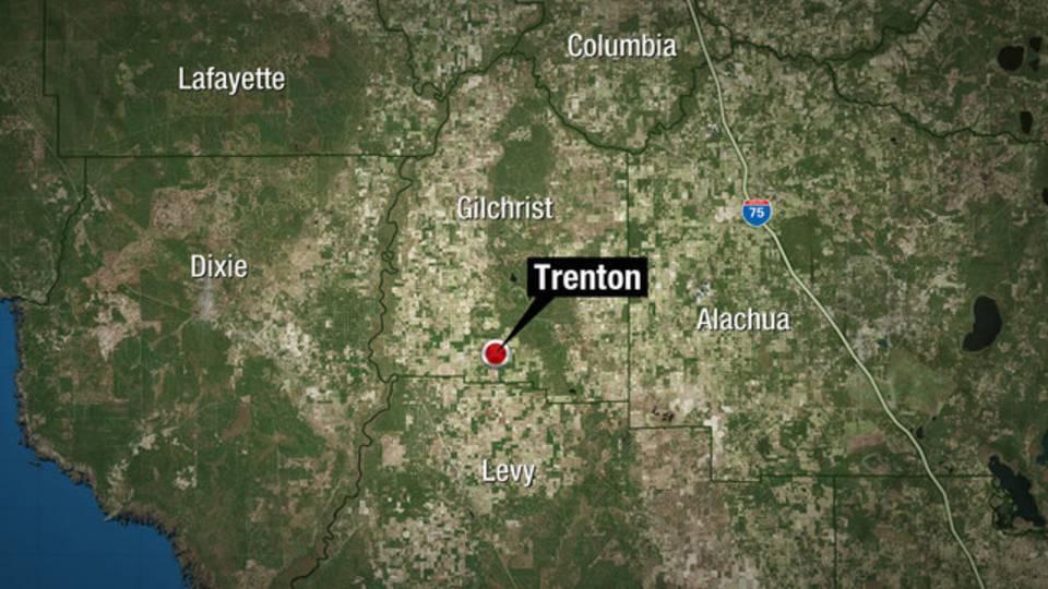Trenton, Florida map