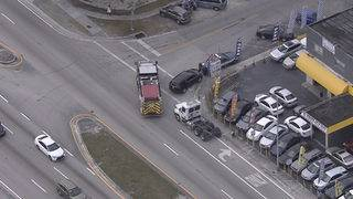 Woman, 79, struck by semitrailer truck in Hialeah, authorities say