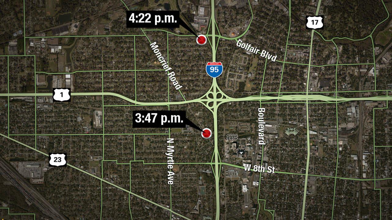 2-shootings-Saturday-map
