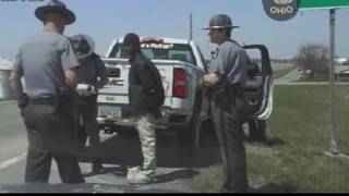 Dashcam footage shows arrest of Roanoke mother in Amber Alert search