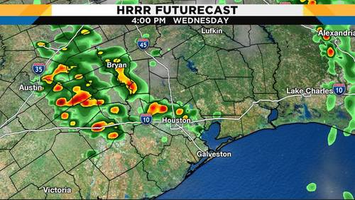 Rain pushes through Houston leaving behind cool, windy weather
