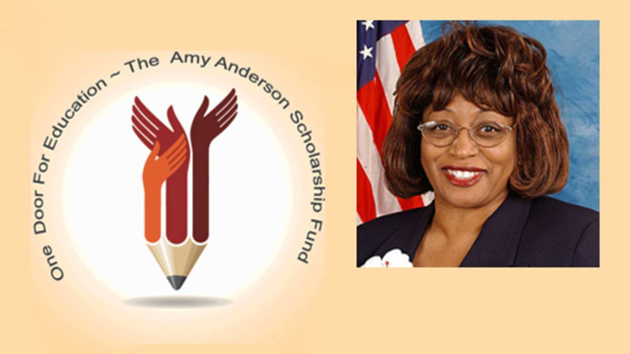 One Door for Education logo with Rep. Corrine Brown