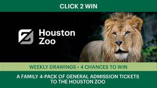 CLICK2WIN: The Houston Zoo Family 4-Pack