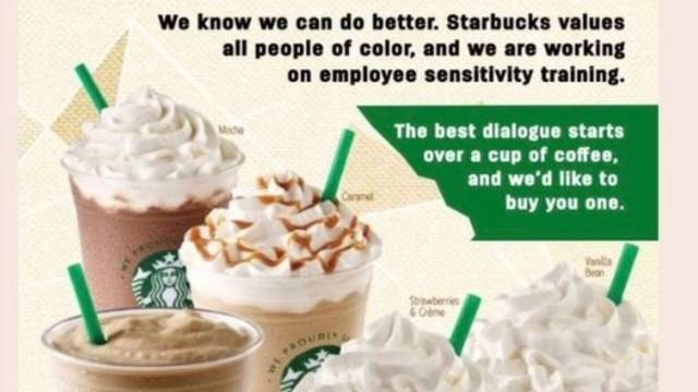 starbucks coupon for people of color are fake
