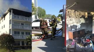 Fire erupts at Century Village apartment in Deerfield Beach