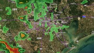 RADAR: Rain moves through Houston area