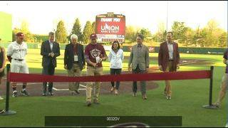 Hokies celebrate refurbished baseball complex