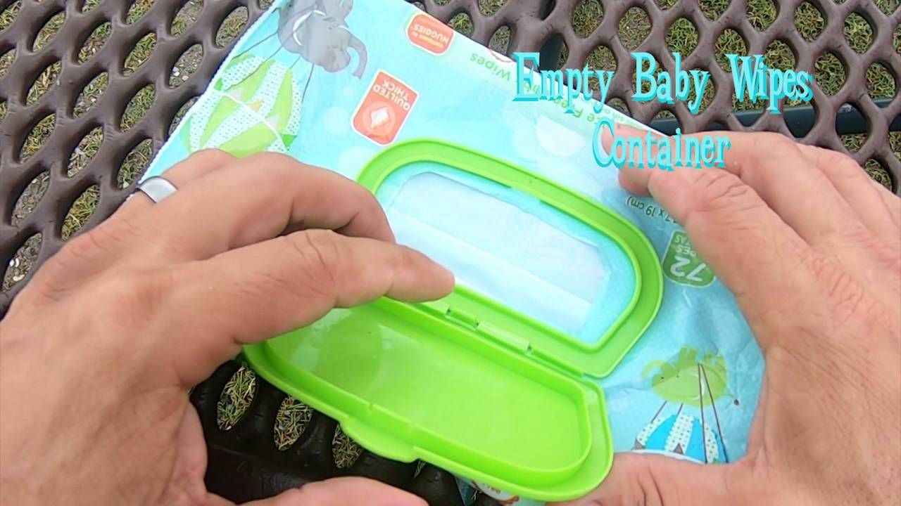 amy beach hacks - baby wipes container