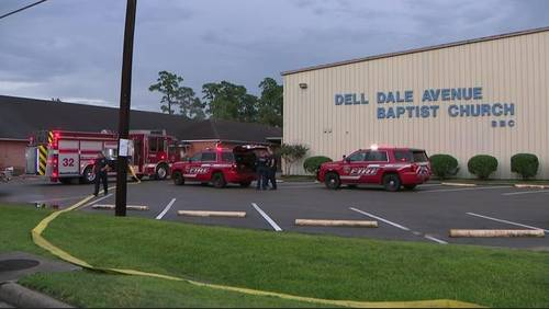 Lightning strikes church cross, starts fire inside, officials say
