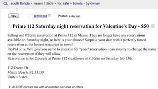Craigslist Cocoa Beach Fl >> Craigslist Ad Posted For Prime 112 Valentine S Day Weekend