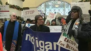More than 100 protesters march in Dream Act rally in Downtown Detroit