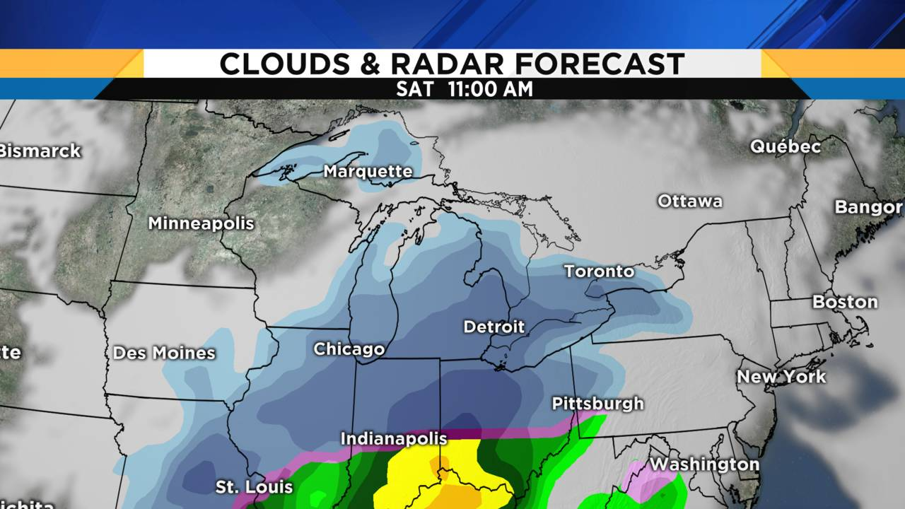 Clouds and radar forecast Saturday Jan 19 2019