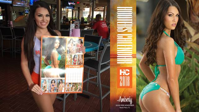 Amberly Hall Hooters Calendar Girl