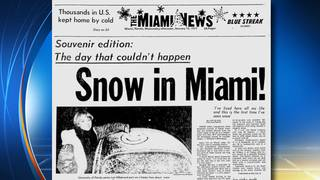 South Florida remembers 'Snow in Miami' miracle