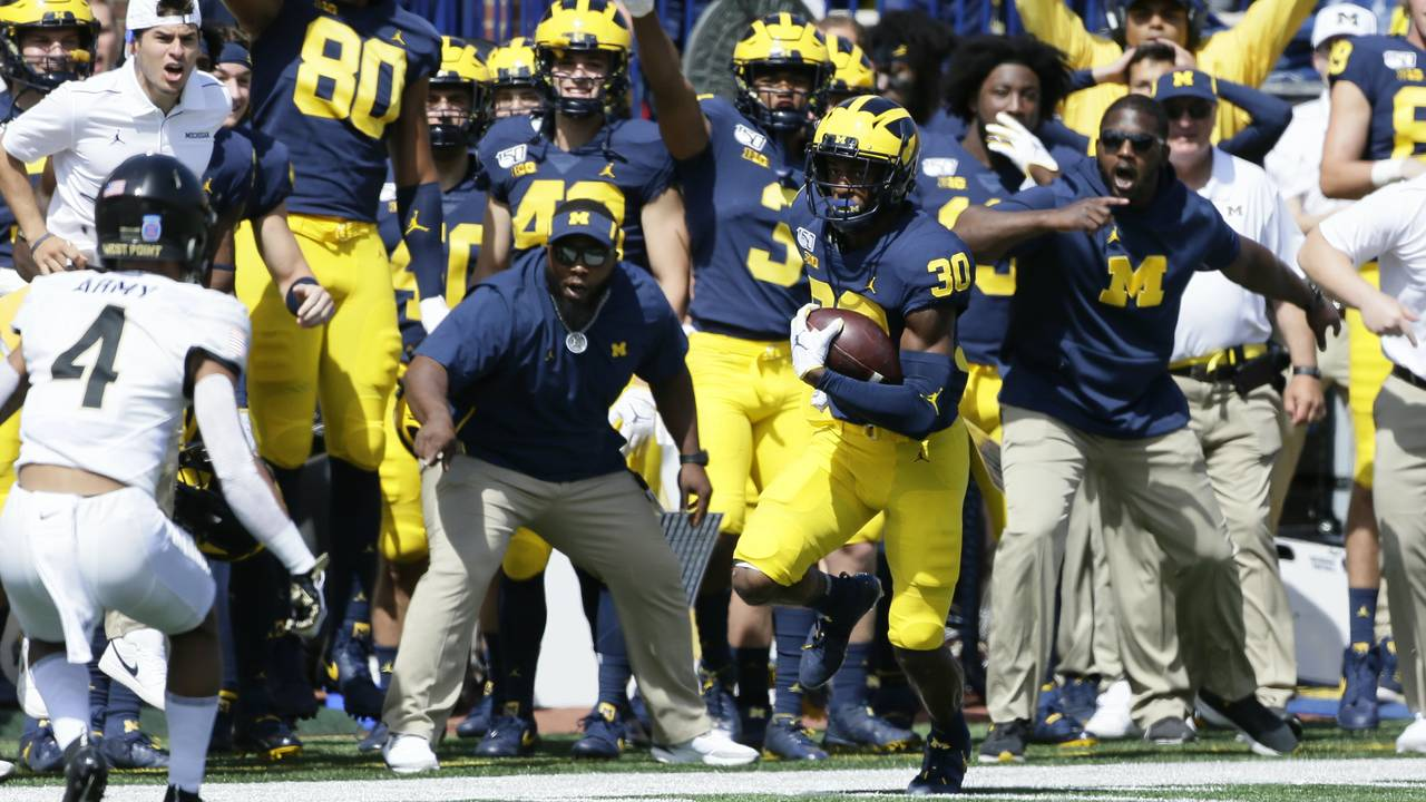 Daxton Hill fake punt catch Michigan football vs Army 2019