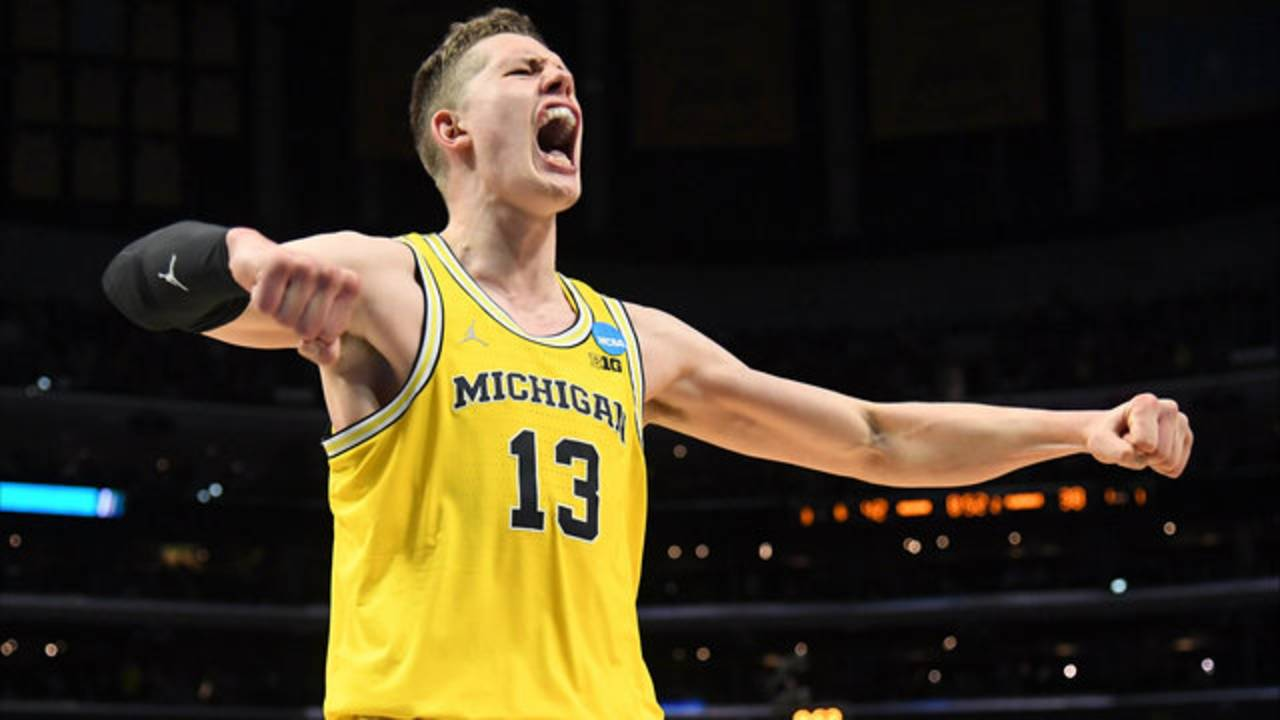 Moritz Wagner Michigan basketball vs Florida State 2018 Elite 8
