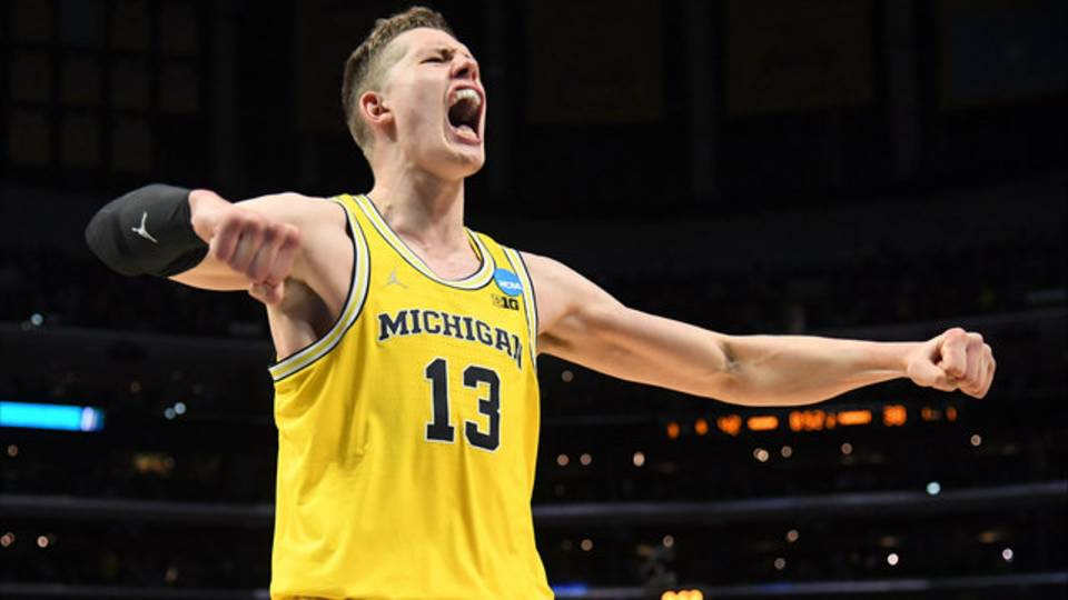 Moritz Wagner Michigan basketball vs Florida State 2018 Elite 8