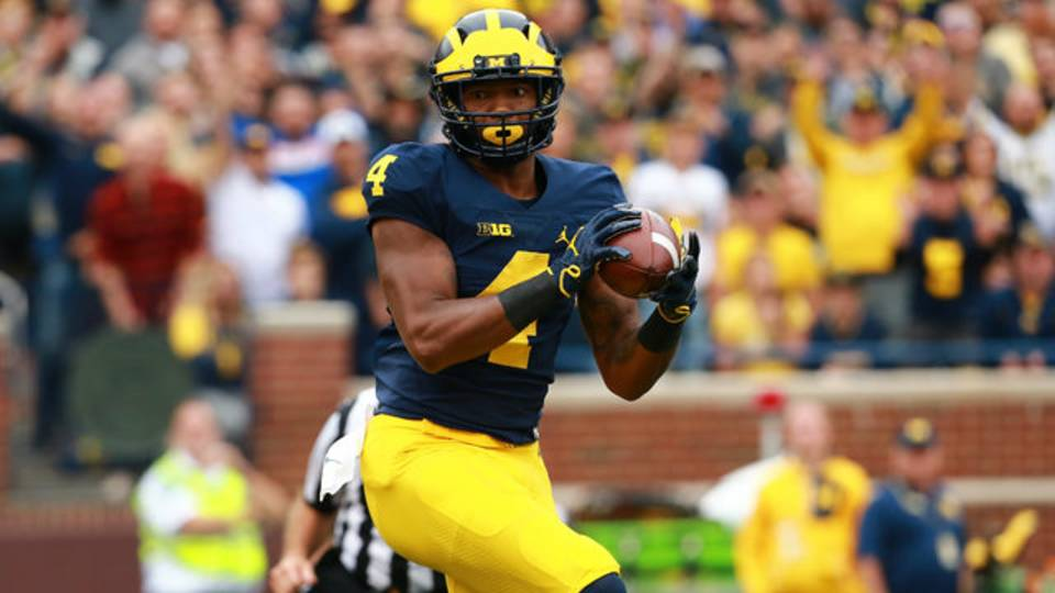 Nico Collins touchdown catch Michigan football vs Western Michigan 2018