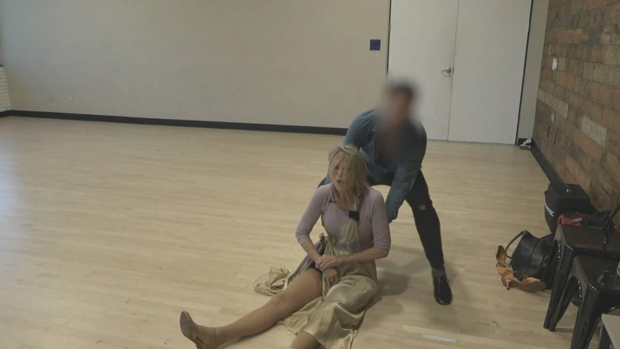 Christie Brinkley after breaking her arm