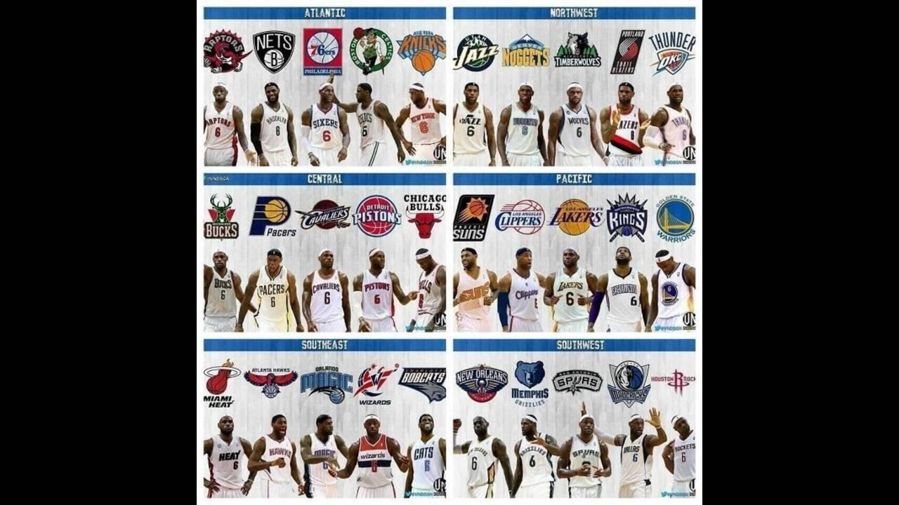size 40 e7705 0a131 LeBron wearing every NBA team jersey