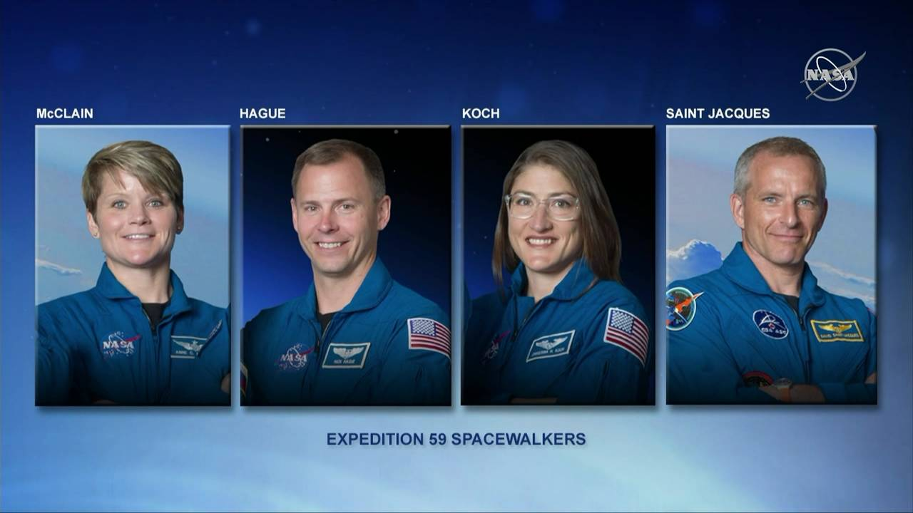 NASA spacewalkers for expedition 59