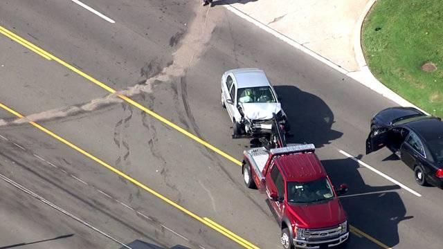 Gray car 14 Mile and Ryan roads crash