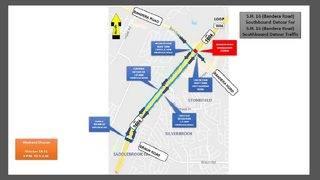 Maps show detour for major closure at Loop 1604 and Bandera Oct. 18-21, 2019