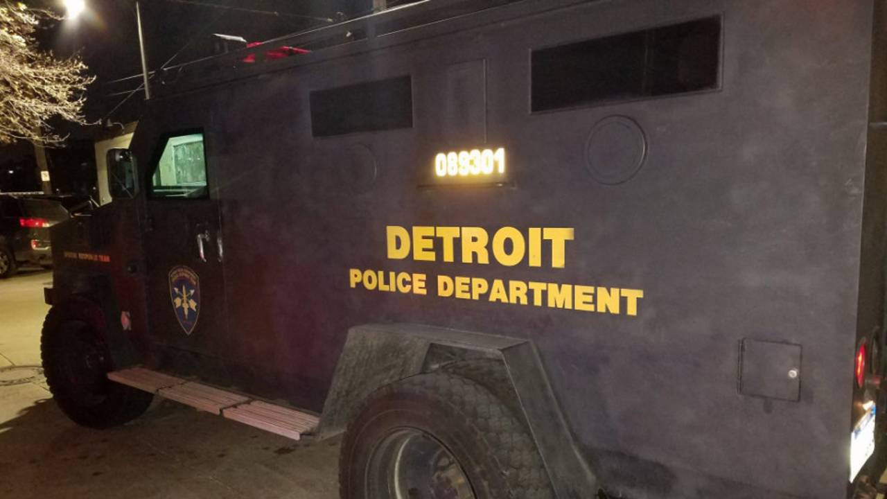 Detroit Police Department armored truck